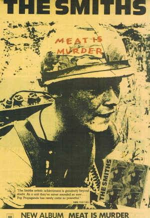 The Smiths - Meat Is Murder - Amerikaanse advertentie (pinterest.com)