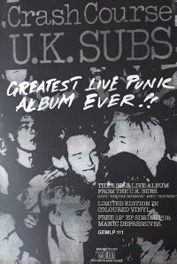 U.K. Subs - Crash Course - Ad (discogs.com)