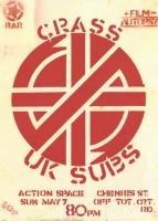 U.K. Subs & Crass - Concert poster (facebook.com)