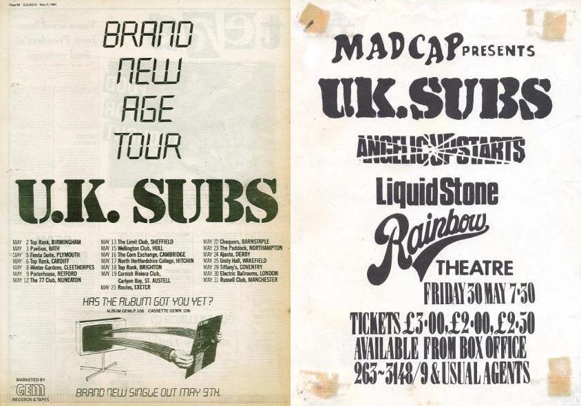 U.K. Subs - Tour & Poster (uksubstimeandmatter.net)
