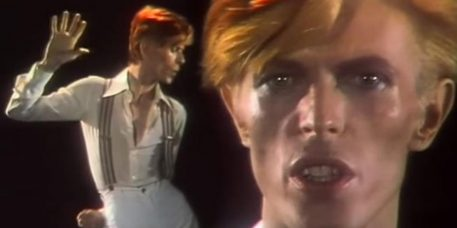 David Bowie - Stills from US TV advert 1975 for Young Americans (pinterest.com)