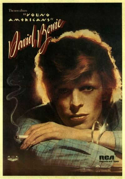 David Bowie - Young Americans - Billboard Ad (pinterest.com)