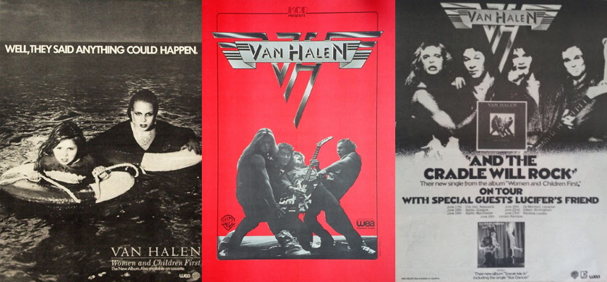 Van Halen - Women And Children First - Ads (vhnd.com/pinterest.com/themightyvanhalen.net)