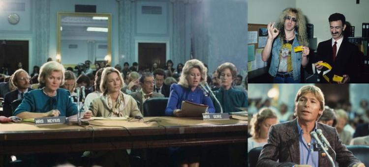 PMRC - Congress - 1985 (theguardian.com/loudwire.com/societyofrock.com)