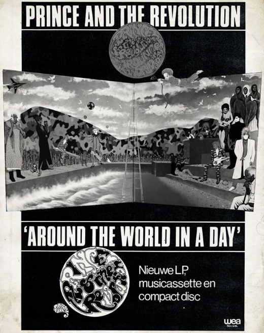 Prince And The Revolution - Around The World In A Day - Reclame (Prince: The Dutch Experience - Edgar Kruize)