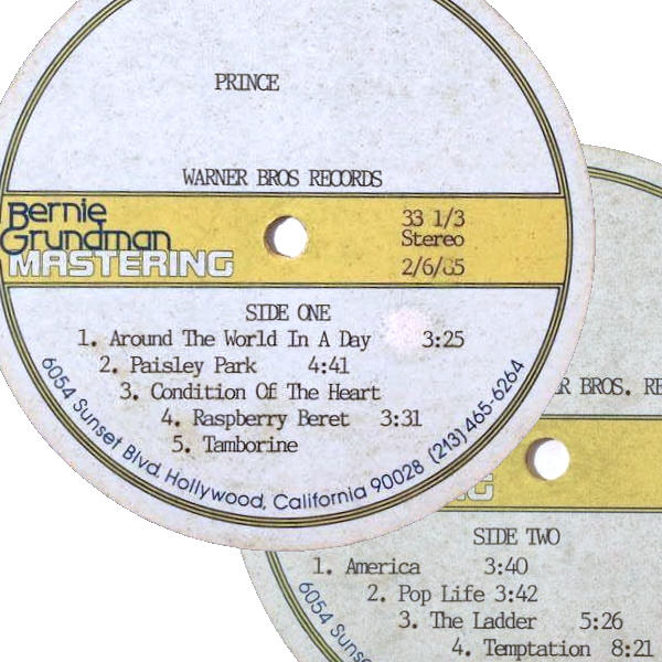 Prince And The Revolution - Around The World In A Day - Testpersing - 06-02-1985 (rrauctions.com)