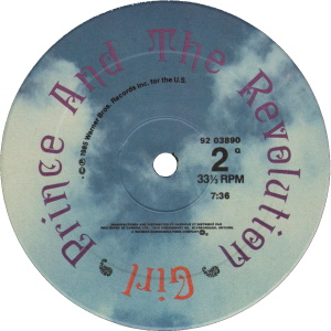 Prince And The Revolution - Girl - B-kant label (discogs.com)