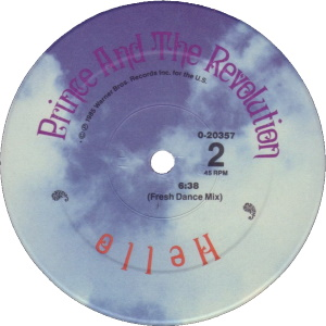 Prince And The Revolution - Hello - B-kant label (discogs.com)