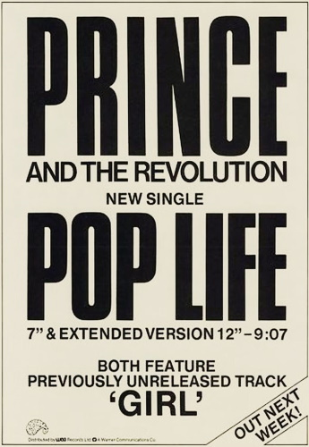 Prince And The Revolution - Pop Life - Single ad (pinterest.com)