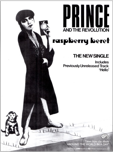Prince And The Revolution - Raspberry Beret - Single ad (lansuresmusicparapernalia.blogspot.com)