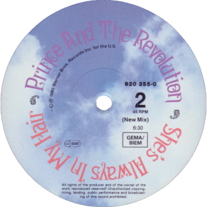 Prince And The Revolution - She's Always In My Hair - B-kant label (discogs.com)