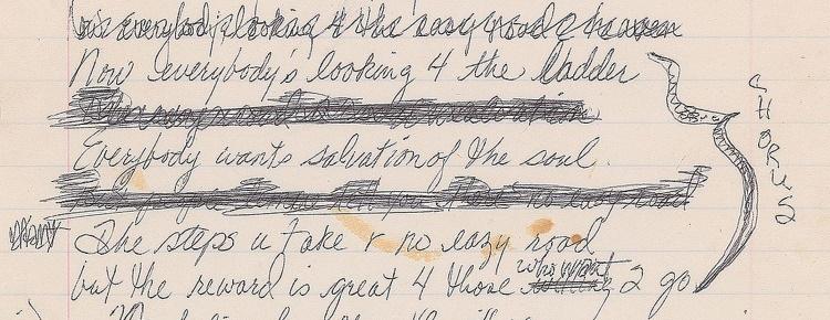 Prince - The Ladder - Handwritten chorus (icollector.com)