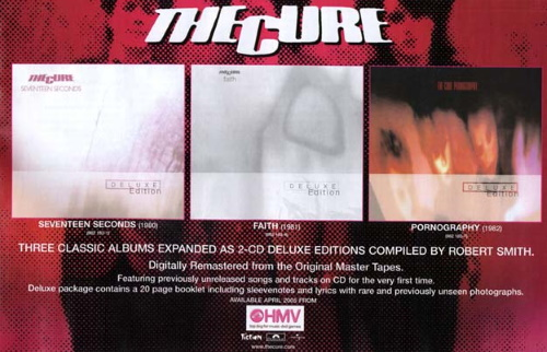 The Cure - 2005 Remasters Seventeen Seconds, Faith & Pornography (pinterest.com)