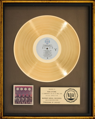 Devo - Freedom Of Choice - Gold record (ha.com)