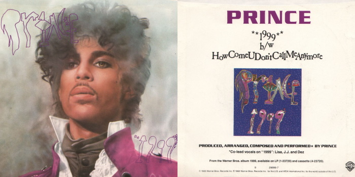 Prince - 1999 & How Come U Don't Call Me Anymore (discogs.com)