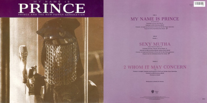 Prince And The New Power Generation - My Name Is Prince & 2 Whom It May Concern (discogs.com)