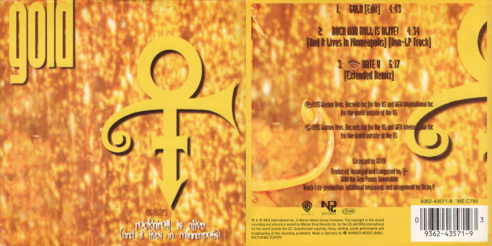 Prince - Gold & Rock And Roll Is Alive (And It Lives In Minneapolis) (discogs.com)