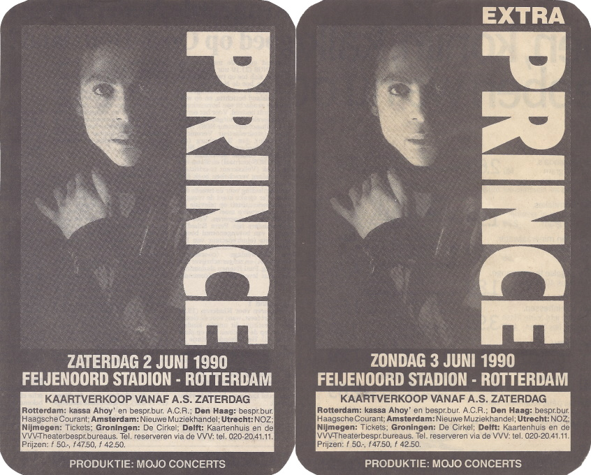 Prince - Nude Tour - Netherlands ads in de Volkskrant, November 16th & 23rd, 1989 (apoplife.nl)