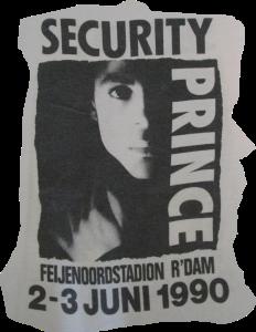 Prince - Nude Tour - Rotterdam Security t-shirt (facebook.com)