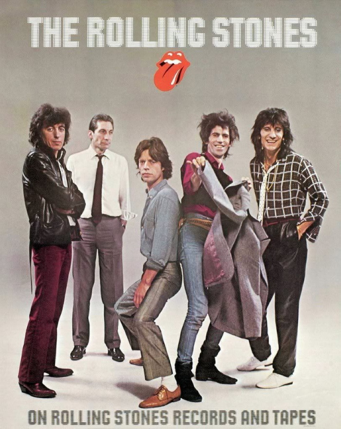 The Rolling Stones 1980 Reclame (pinterest.com)