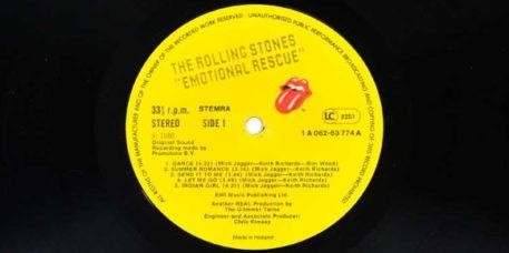 The Rolling Stones - Emotional Rescue vinyl (vinyl-records.nl)