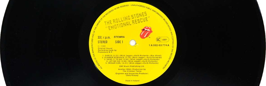The Rolling Stones - Emotional Rescue vinyl (vinyl-records.nl)