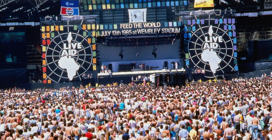 Live Aid Wembley Stadium (pinterest.com)