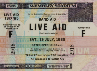 Live Aid ticket (julienslive.com)