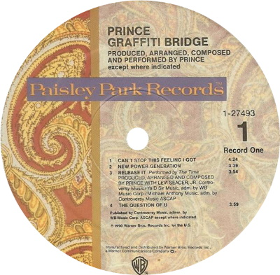 Prince - Graffiti Bridge - Kant A (discogs.com)