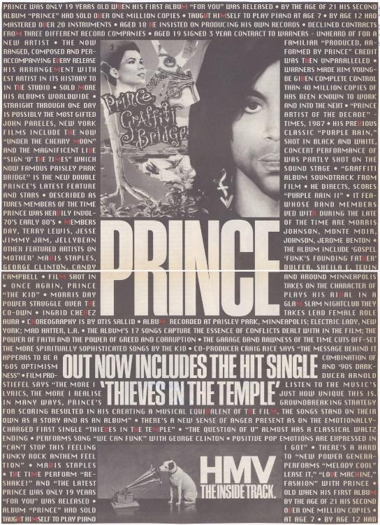 Prince - Graffiti Bridge reclame - NME 25-08-1990 (apoplife.nl)