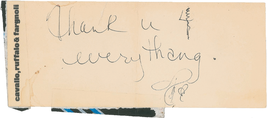 Prince thank you note to Eric Leeds (begin 1986) (icollector.com)
