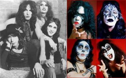 Kiss - Early 1973 & First make-up (kissonline.com/fanpop.com)
