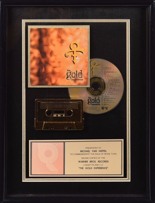 Prince - The Gold Experience - Gold record (icollector.com)