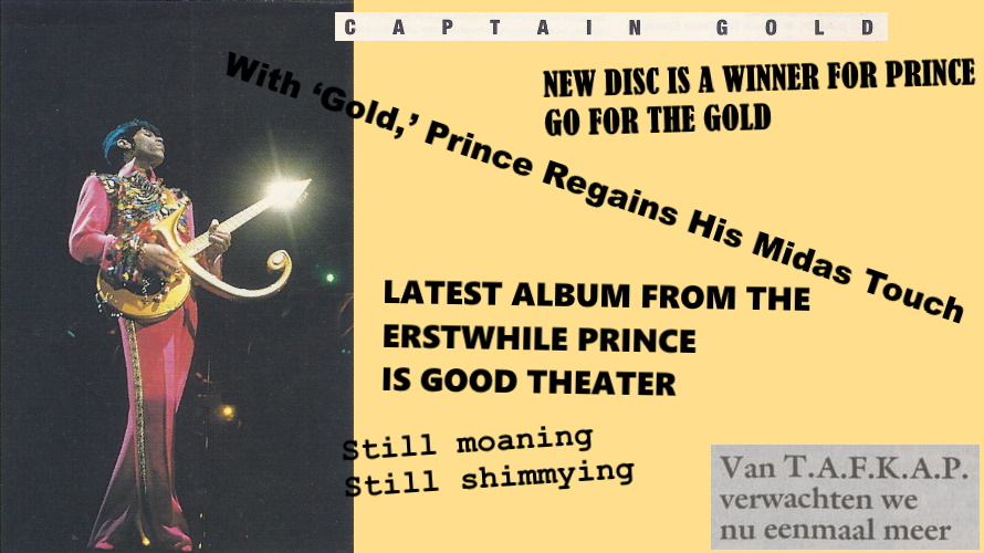 Prince - The Gold Experience reviews (apoplife.nl)
