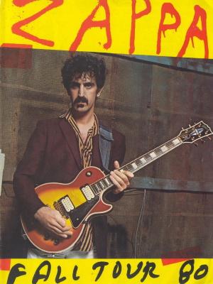 Frank Zappa - Fall Tour 80 tour program (afka.net)