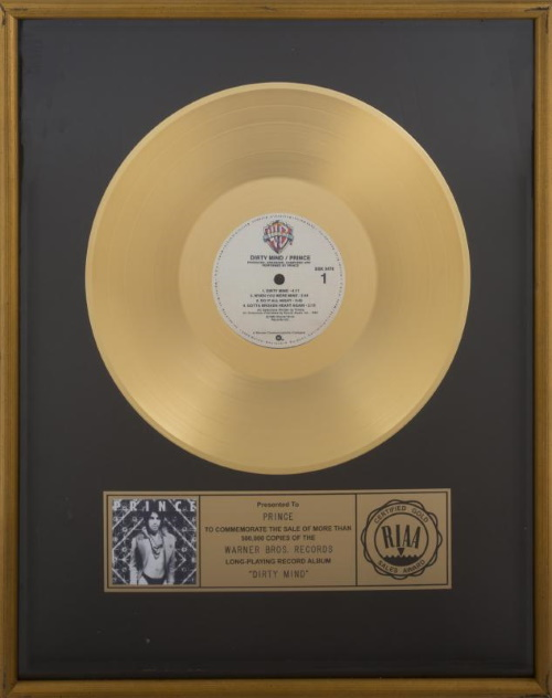 Prince - Dirty Mind - Gold record (julienslive.com)