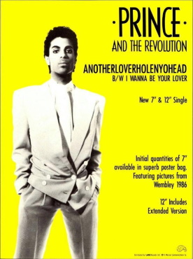 Prince And The Revolution - Anotherloverholenyohead - Single reclame (pinterest.com)