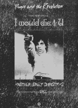 Prince And The Revolution - I Would Die 4 U - Single reclame (lansuresmusicparapernalia.blogspot.com)