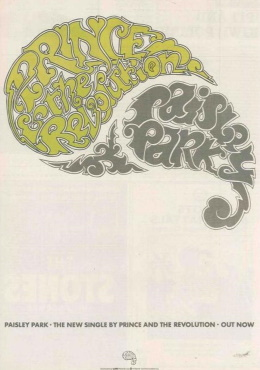 Prince And The Revolution - Paisley Park - Single reclame (stickitonyourwall.com)