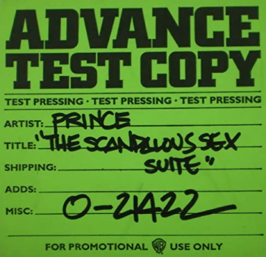 Prince - Scandalous - Single test persing (discogs.com)