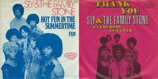 Sly And The Family Stone - Hot Fun In The Summertime & Thank You Thank You (Falettinme Be Mice Elf Agin) singles (dutchcharts.nl)