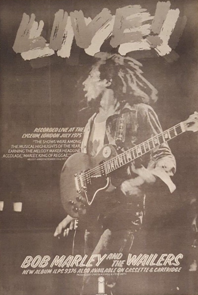Bob Marley And The Wailers - Live! - Ad NME 06-12-1975 (collectors.com)