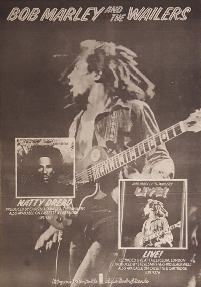 Bob Marley And The Wailers - Live! - Reclame (collectors.com)