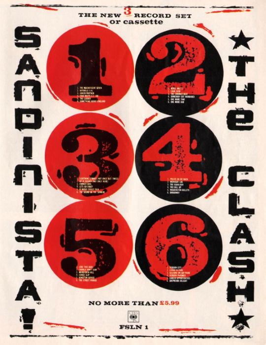 The Clash - Sandinista! - Reclame (pinterest.com)