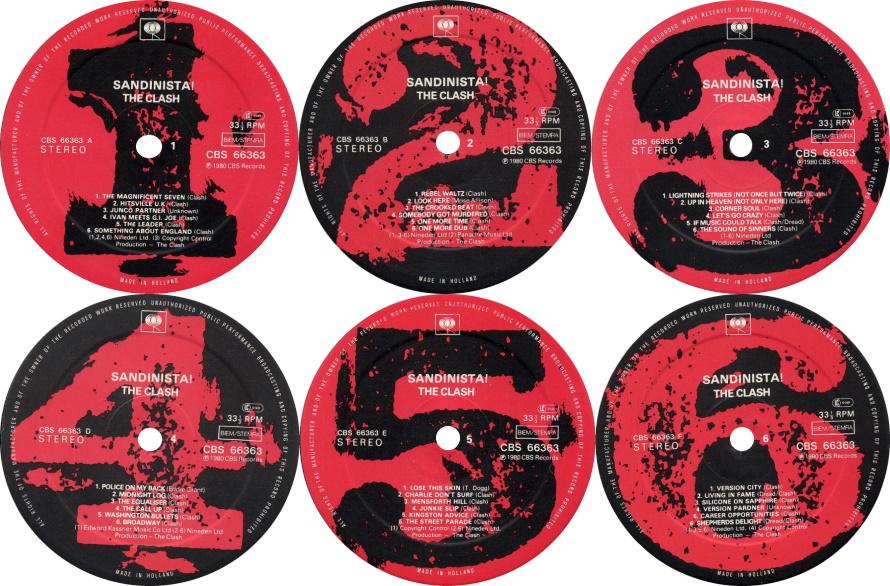 The Clash - Sandinista! - Kant 1, 2, 3, 4, 5, 6 (discogs.com)