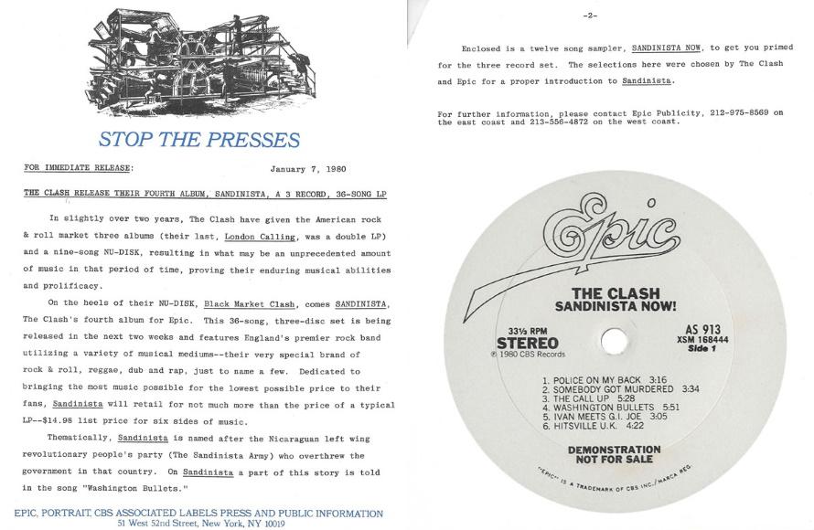 The Clash - Sandinista Now! (discogs.com/9111.com)
