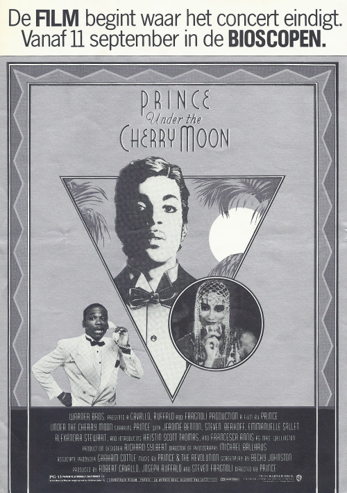Prince - Under The Cherry Moon - Flyer handed out at the Ahoy shows (apoplife.nl)