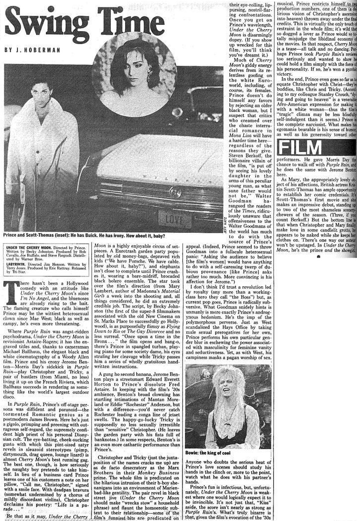 Prince - Under The Cherry Moon recensie - Vogue 15-07-1986 (apoplife.nl)