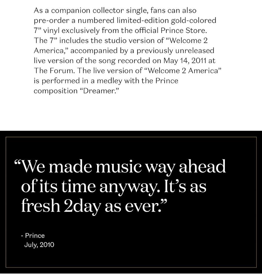 Prince - Welcome 2 America - Unreleased Studio Vault Album - Email (6) (prince.com)
