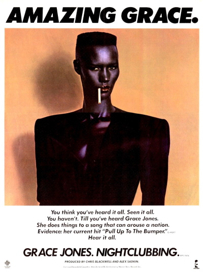 Grace Jones - Nightclubbing - Ad (lansuresmusicparaphernalia.blogspot.com)